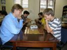 Blonde players in chess have different reputation than blonde women... This is proved by high ratings of Yaroslav Zherebukh and Mykhailo Oleksienko.