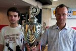 21-year-old GM Martyn Kravtsiv (Ukraine) and 39-year-old Sergei Tiviakov (Netherlands) were declared winners of the first LBV tournament with the same Buchholz and Sonneborn-Berger score!