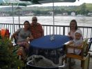With my sister Alina, her husband Andreas with our daughters having dinner on the bank of Rhine